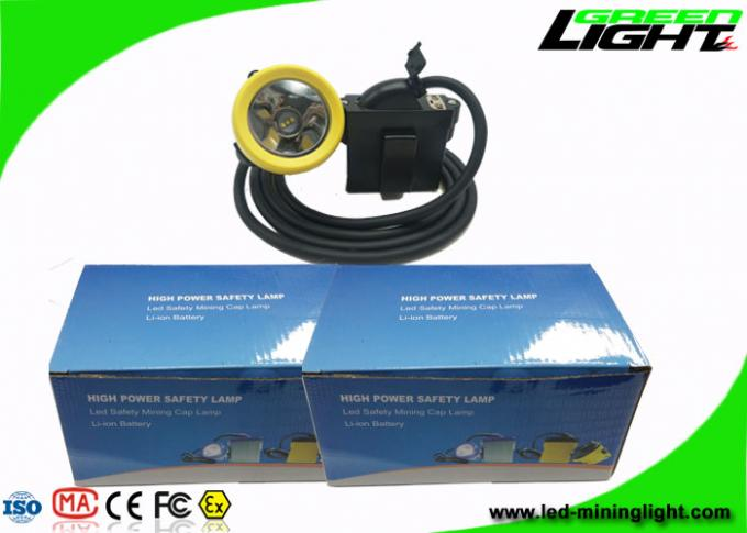 USB Charging Rechargeable Miners Headlamp 7.8Ah 10000lux With Silicon Button Cap