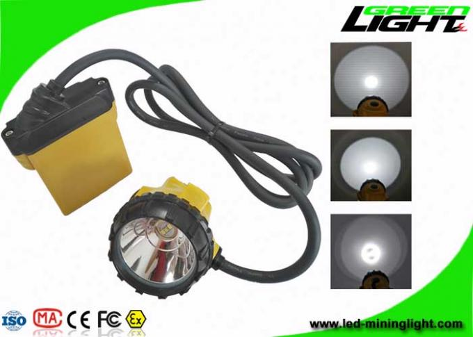 Underground Safety LED Mining Light 25000Lux 10.4Ah Samsung Battery With SOS Function