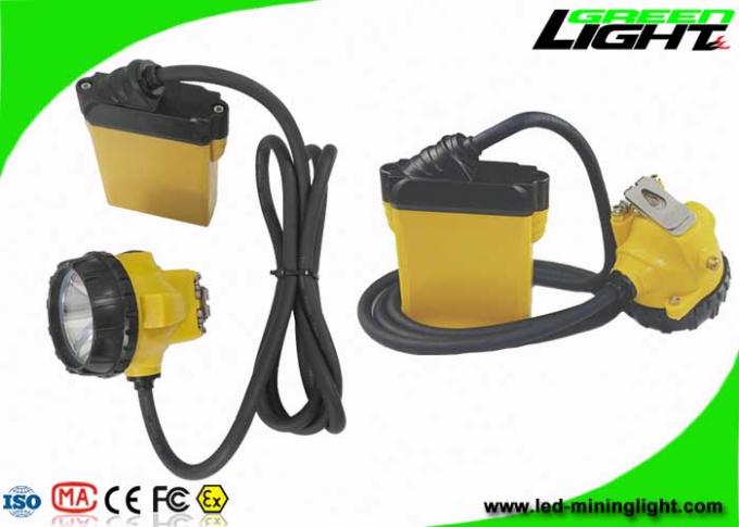 3W Cree LED Mining Hard Hat Lights 25000Lux Four Lighting Levels With Low Power Warning
