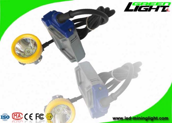 Coal Rechargeable Led Headlight 15000lux High Beam Corded Cap Lamp 6.6Ah Battery