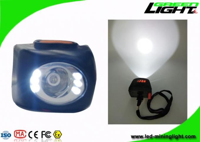 IP68 Small Size Digital Coal Mining Lights 8000lux 30 / 70 Degree Clip PC Lamp Body