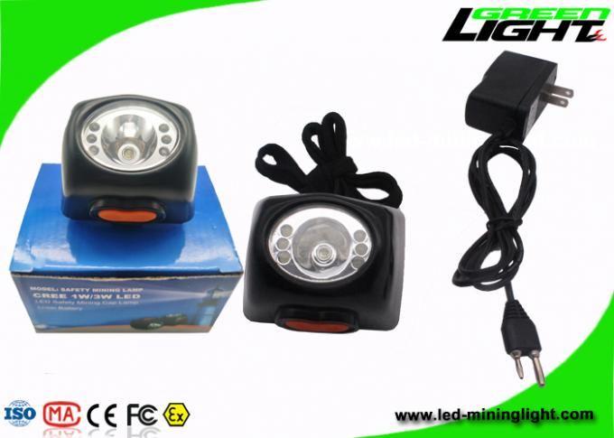 Small Size LED Miners Cap Lamp 8000LUX 221lum Brightness With Digital Screen