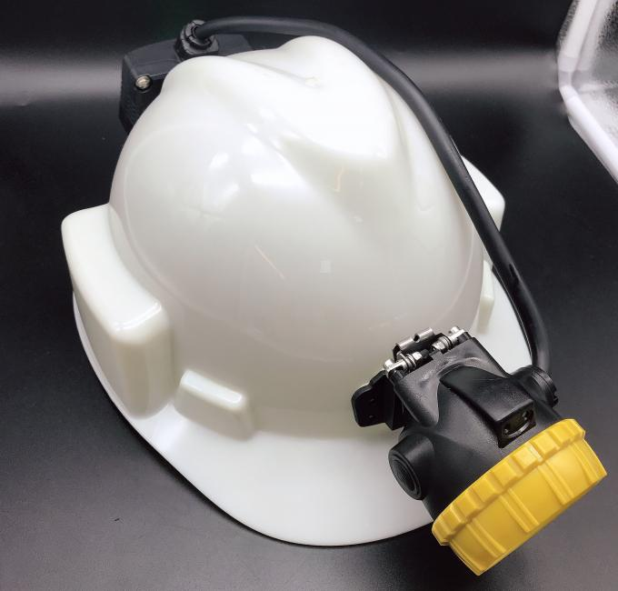 Semi Corded Mining Cap Lights 15000lux High Brightness With Low Power Warning Function