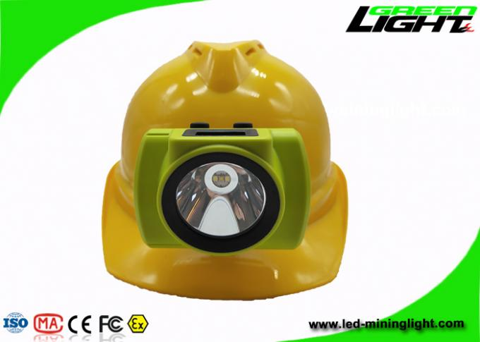 All In One Molding Silicon Button OLED Cap Lamp For Mining Underground Hard Rock