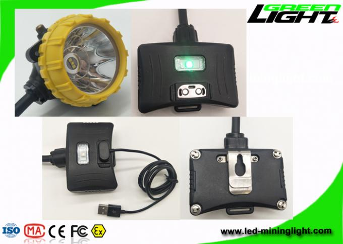 High Beam Corded Rechargeable LED Headlamp 15000lux GLS12-A With Four Lighting Modes