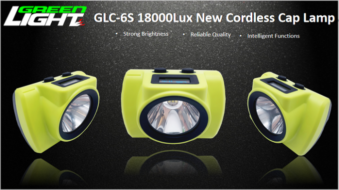 Small Size Rechargeable LED Headlamp 25000lux GLC-6S OLED Screen For Time Logo