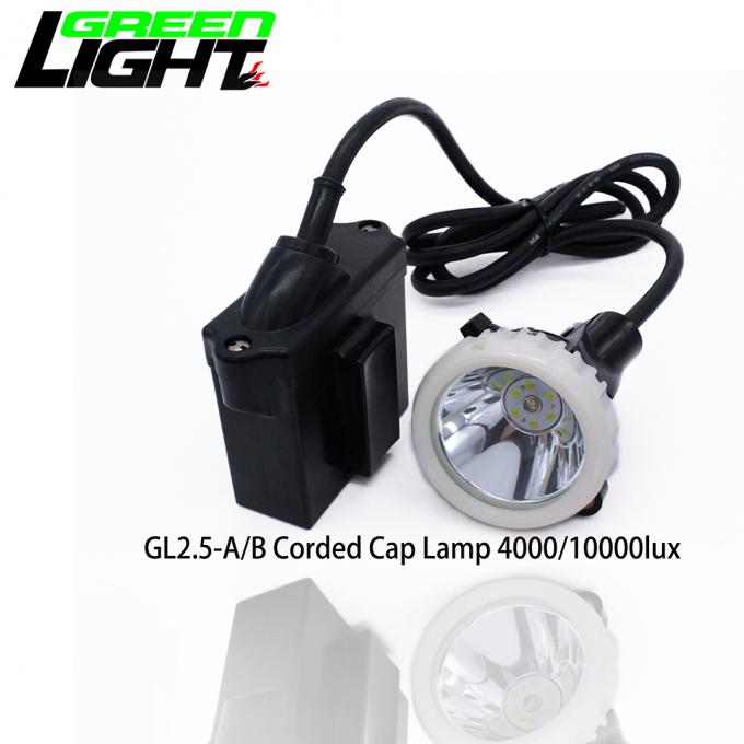 Traditional Charging Coal LED Miners Cap Lamp 146LUM 6.6Ah 1200 Battery Cycles