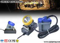 15000 Lux LED Miners Lights For Hard Hats , 6600mAH Cord Safety Hard Hat Lights