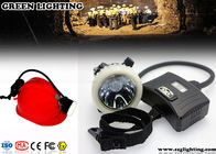 GS5-B Semi - Corded Miners Helmet Light , 5.6AH Rechargeable Led Cap Lamp