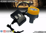6400mAH Safety Mining Hard Hat Led Lights Semi - Corded Type 8000 Hours Life Span