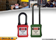 China ABS Lock Body with 76mm Long Nylon Shackle Safety Lockout Padlocks factory