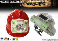 OLED Screen Cordless Led Mining Cap Lamp , IP68 1W 6000 Lux Mining Hard Hat Lights