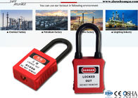 Durable Lock Out Padlocks , Dust Proof Nylon Shackle ABS Lock Out Locks