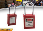 China ZC-G01 Red Short Shackle Safety Lockout Padlock , ABS Body Steel Shackle factory