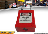 Safety Lockout Padlocks 38 Mm Steel Lock Shackle 53 Mm ABS Lock Body