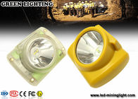 IP65 Lightweight Led Mining Light / 6000 Lux Hard Hat Headlamp PC Meterial