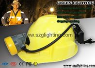 Semi corded coal mining lamp 8000Lux , USB charging way and 5.6Ah 18650 battery
