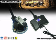 High Power 10000 Lux Superbirght Led Miners Lights / Mining Hard Hat Lights Light Weight