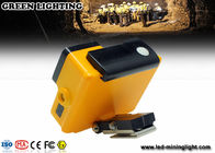8000 Lux Fire Proof Led Mining Helmet Lamp With 18650 Battery , High Brightness