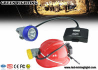 IP68 Waterproof High Lumen Hard Hat Light Rechargeable 3mm Toughened Glass