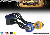 Rechargeable 6.6Ah Battery Coal Mining Lights with PC Bezel and Headlamp Housing