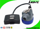 Semi - Corded Coal Led Mining Headlamp 10000 Lux with 16 Hours Lighting Time