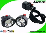 China 2.8 Ah Cordless LED Headlamp Rechargeable , Long Working Time Miners Cap Lamp factory