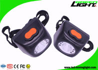 China Safety Cordless LED Mining Cap Lamp Black Color 13-15 Hours Working Time factory