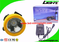 Li - Ion Battery Rechargeable Miners Cree LED Headlamp Long Life Time
