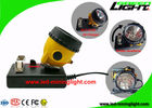 25000 Lux  LED Mining Headlamp , 10.4Ah Safety Miners Cap Lamp Explosion Proof