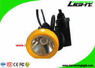 Rechargeable Waterproof LED Headlamp 10000 Lux With Orange / Black Color