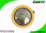 Yellow / Black Miners Helmet Light2.2Ah 3.7V 191g Weight For Underground Emergency