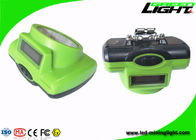 Green Color 15000lux Rechargeable LED Headlamp 6.4Ah Battery Capacity cordless cap lamp SOS light For Miners Safety