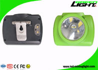 Green Color Rechargeable LED Headlamp 6.4Ah Battery Capacity For Miners Safety