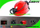 China 6.8Ah Panasonic Battery Mining Cap Lights 15000 Lux Coal Underground Hard Hat Battery factory