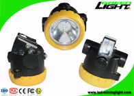 PC Material Led Cordless Mining Cap Lights Yellow Cover With 18650 Li - Ion Battery