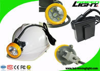 Waterproof Underground Cordless Cap Lamp Mining 216 LUM 1.67W With Black Body