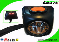 5.7Ah 8000lux Led Mining Cap Lamp Waterproof Underground With High Beam LCD Screen