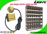 25000lux LED Mining Light High Beam 10.4Ah Capacity With Cable Flashing Light