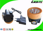 China Lightweight Rechargeable Miners Cap Lamps Cordless ABS Material 3.8Ah Battery Capacity factory