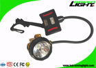 392g Lightweight Semi-corded Cap Lamp IP68 Waterproof LED Mining Headlamp 15000Lux 1.7W High Beam Flame Resistant