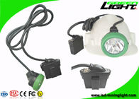 Underground LED Mining Light 10000lux 6.6Ah Rechargeable Battery With Low Power Warning
