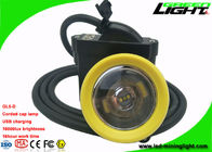 Corded Mining Cap Lamp USB Charger Yellow / Green Head Bezel 10000lux Brightness