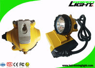 Aluminum Miners Cap Lamp , Hard Hat Headlamp IP68 LED 10.4Ah SAMSUNG Battery