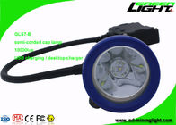 China Semi - Corded Mining Cap Lights 10000Lux Compact Resistant With 1 Main Light 6 SMD factory
