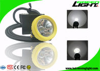 1.67W IP68 Miners Helmet Light 10000lux Brightness USB Charger 1 Year Warranty