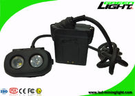 Rechargeable OLED Led Miners Cap Lamp 15000lux Waterproof Dual - Beam Functional