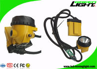 Low Power Warining Led Miners Cap Lamp 10.4Ah 25000lux High Beam 2A Charger