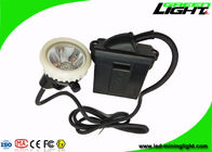 China PC Body Led Miners Cap Lamp Headlight 10000lux Rechargeable Flame Resisitant factory