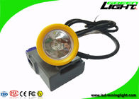 Hard Hat Coal Miners Headlamp 15000lux High Beam 6.6Ah Rechargeable Li - Ion Battery